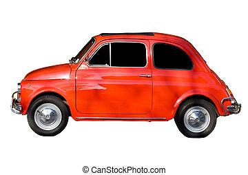 automobile, bianco, contro, fondo, rosso