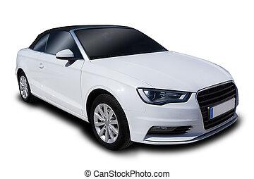 automobile, bianco, convertibile