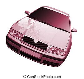 automobile, bianco, isolato