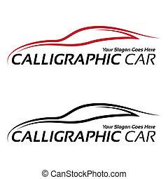 automobile, calligraphic, logos