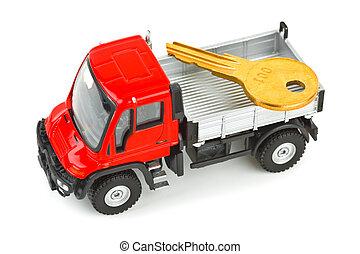automobile, camion gioco, chiave