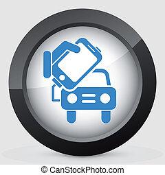 automobile, collegamento, smartphone
