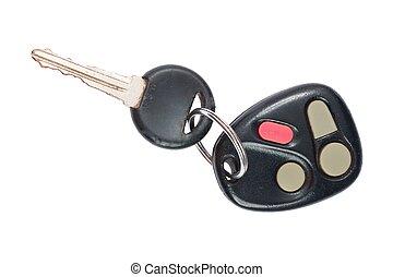 automobile, colpo, su, chiave, chiudere