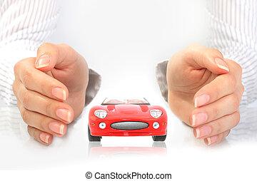 automobile, concept., assicurazione