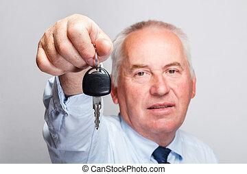 automobile, concetto, chiave