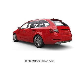 automobile famiglia, -, rosso, cremisi, vista posteriore