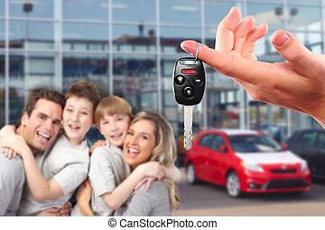 automobile, felice, famiglia nuova, keys.