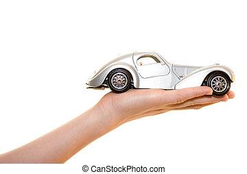 automobile, giocattolo, palma
