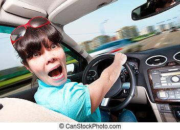 automobile, guida, donne