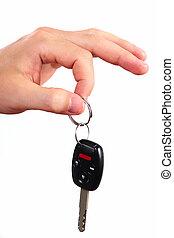 automobile, key., mano