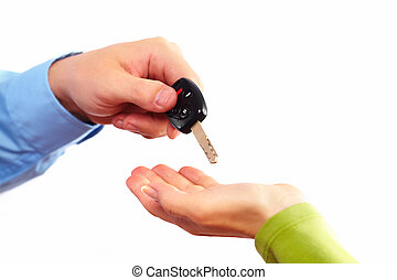 automobile, key., mano