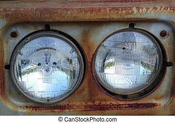 automobile, lights.