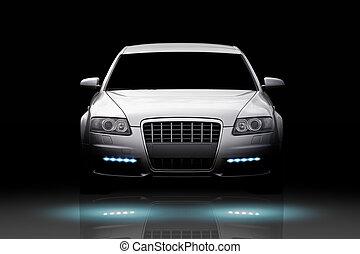 automobile, lusso, isolato