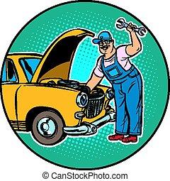 automobile, maestro, riparazione