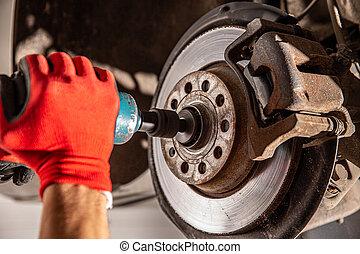 automobile, manutenzione, concetto