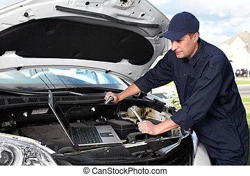 automobile, mechanic.