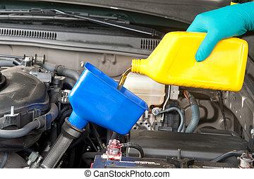 automobile, mutevole, olio