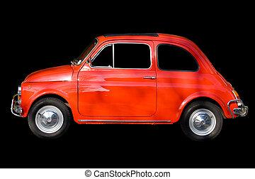 automobile, nero rosso, contro, fondo