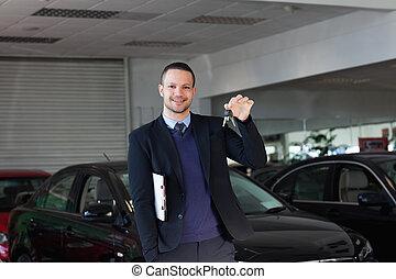 automobile, presa a terra, chiavi, commesso
