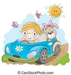 automobile, ragazza, va