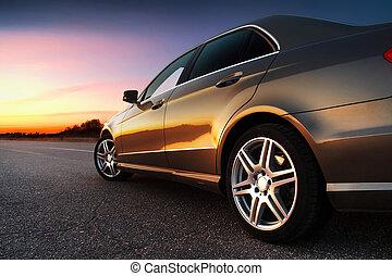 automobile, rear-side, vista