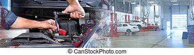 automobile, repair., meccanico
