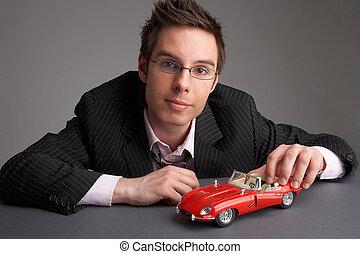 automobile, rosso