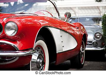 automobile, rosso, classico