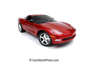 automobile, rosso, miniatura