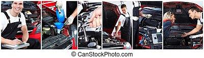automobile, service., riparazione