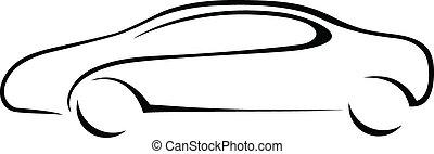 automobile, silhouette, emblem.