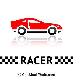 automobile, simbolo, corsa