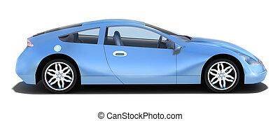 automobile, -, sinistra, sport, vista laterale