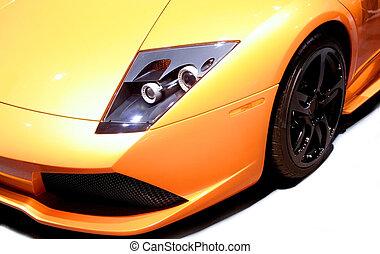 automobile, sport, giallo