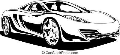 automobile, sport, originale, mio, disegno