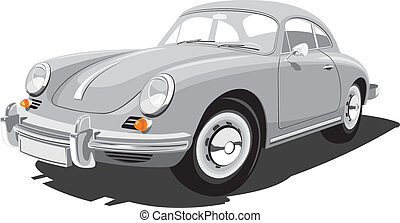 automobile, sport, retro