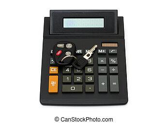 automobile, tuo, calcolatore, pagamento