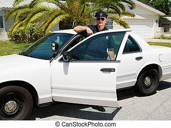 automobile, -, ufficiale, &, polizia