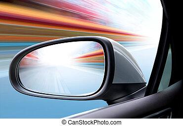 automobile, velocità, strada