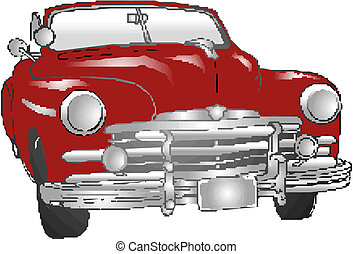 automobile, vendemmia, illustrazione