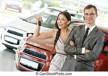 automobile, vendita, o, acquisto, auto