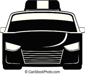 automobile, vettore, polizia, icona