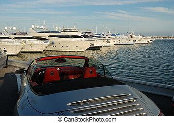 automobile, yacht, lusso