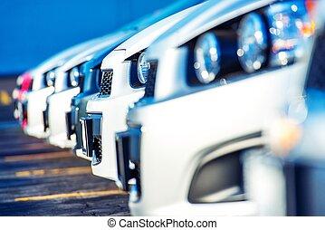 automobili, commerciante, vendita