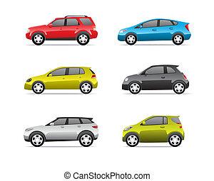 automobili, parte, 2, set, icone