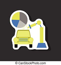 automobilistico, adesivo, carta, fondo, elegante, industria