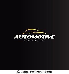 automobilistico, isolato, vettore, disegno, sagoma, automobile, logotipo
