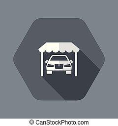 automobilistico, sala esposizione