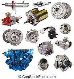 automobilistico, set, sopra, parts., isolato, bianco, motore