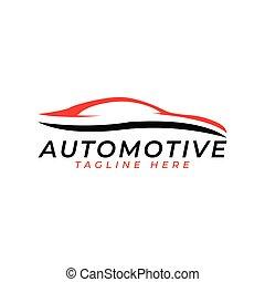 automobilistico, simbolo, logotipo, vettore, da corsa, icona, disegno
